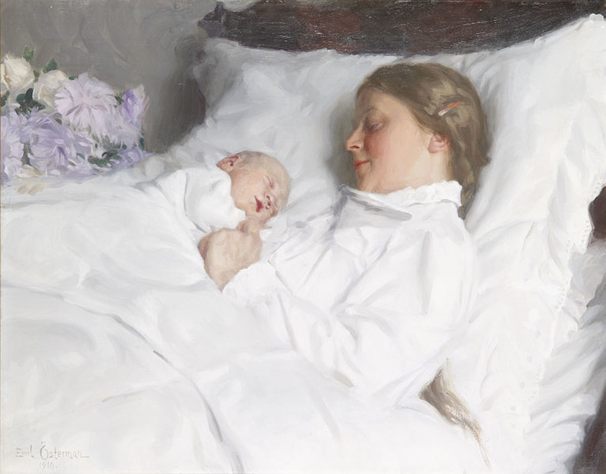 Mother and Child by Emil Osterman, 1910.