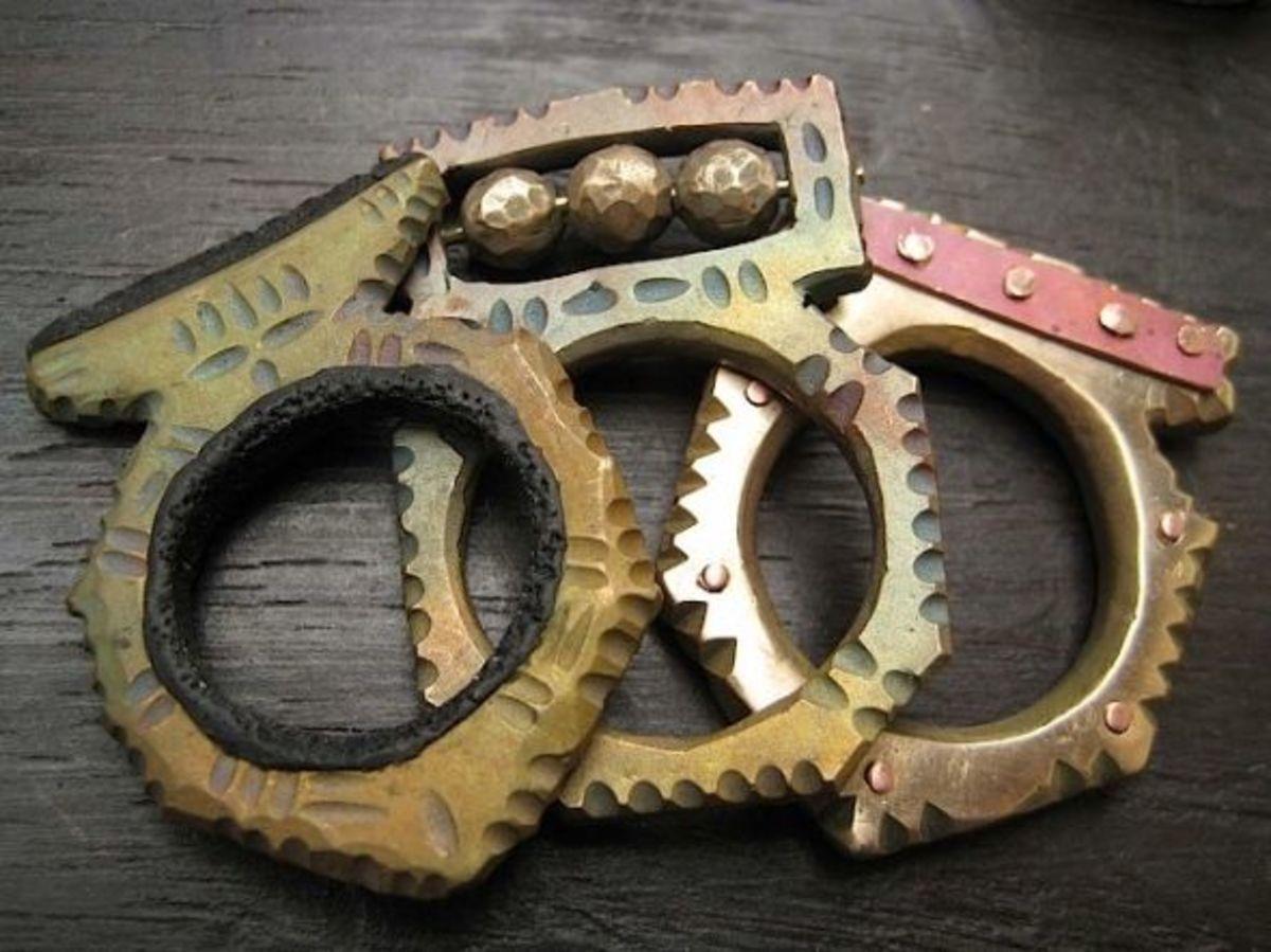 Celie's primitive bronze rings, photographed by Jennifer Kahn
