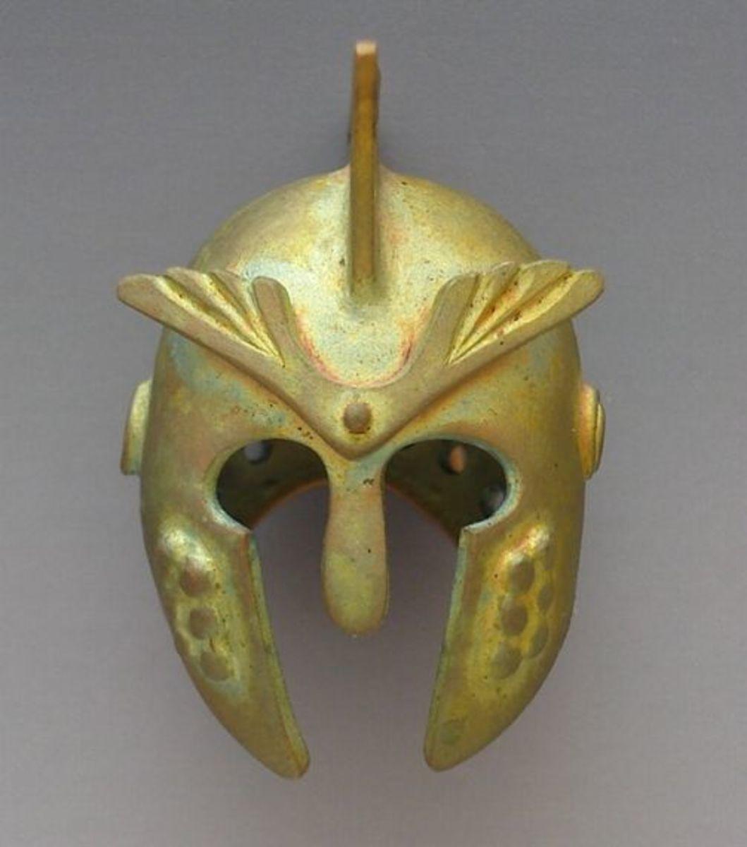 BRONZclay helmet