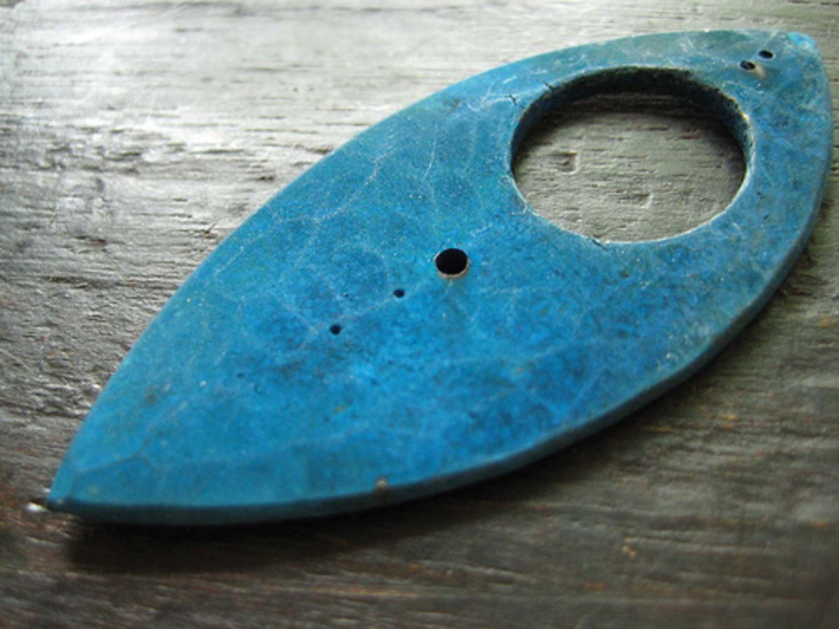 """Blue Bronze Pendant"" by Celie Fago, photographed by Jennifer Kahn."