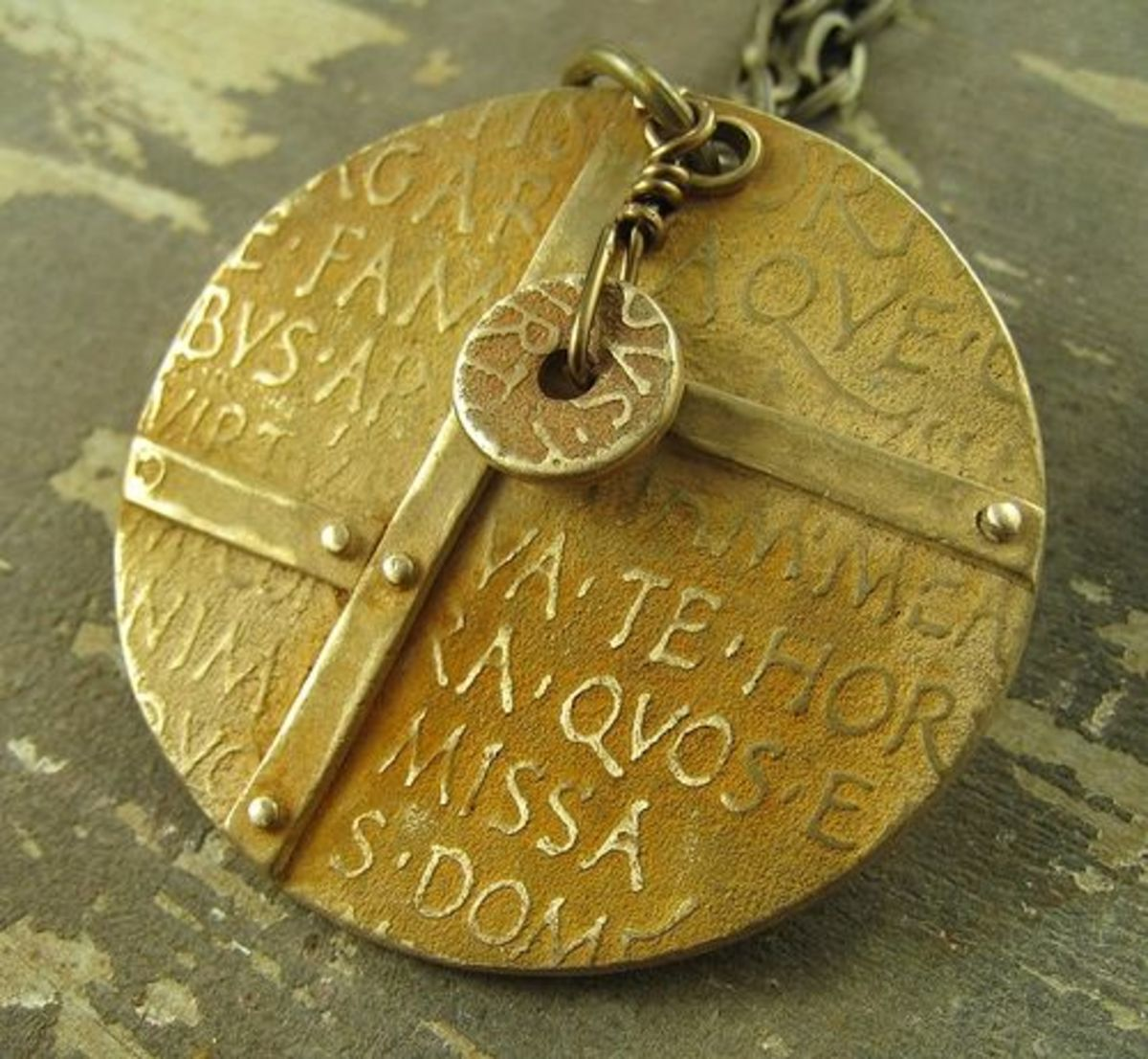 BRONZclay pendant