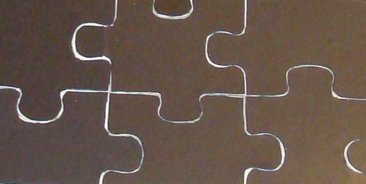 Trimming at an angle reveals a bit of the wood, and ensures that the magnetic backing will not interfere with putting the puzzle together.