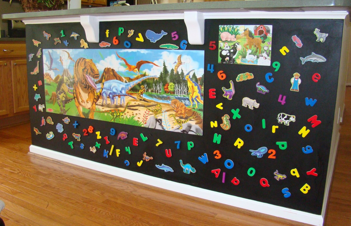 There are many great kids' magnets and fun puzzles available.