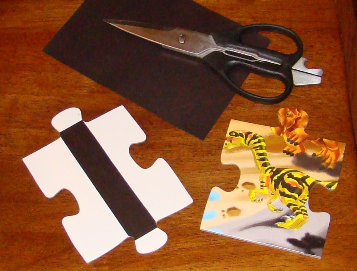 Light, durable floor puzzle pieces are easy to make magnetic.