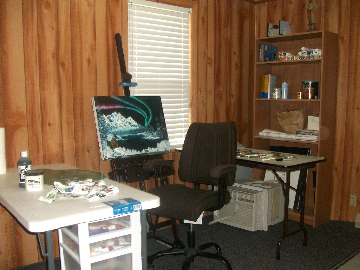 My art studio area