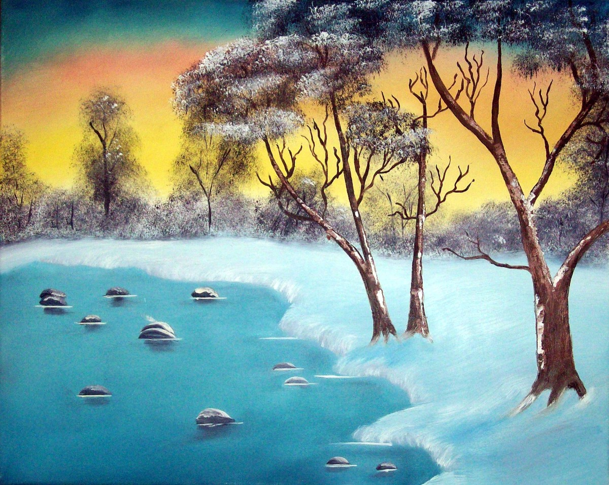 bob ross joy of painting for beginners feltmagnet
