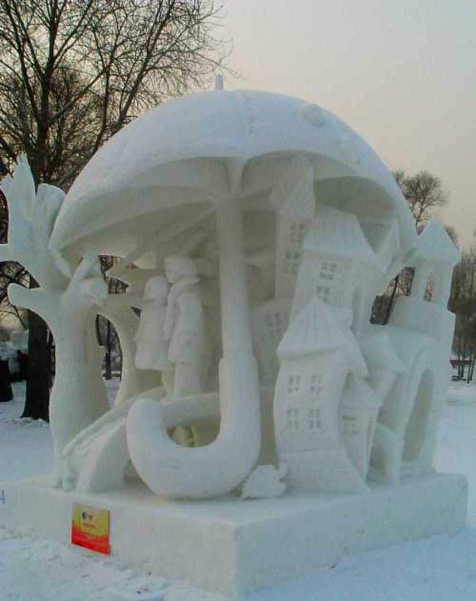 The winning sculpture of the Harbin Snow Festival.