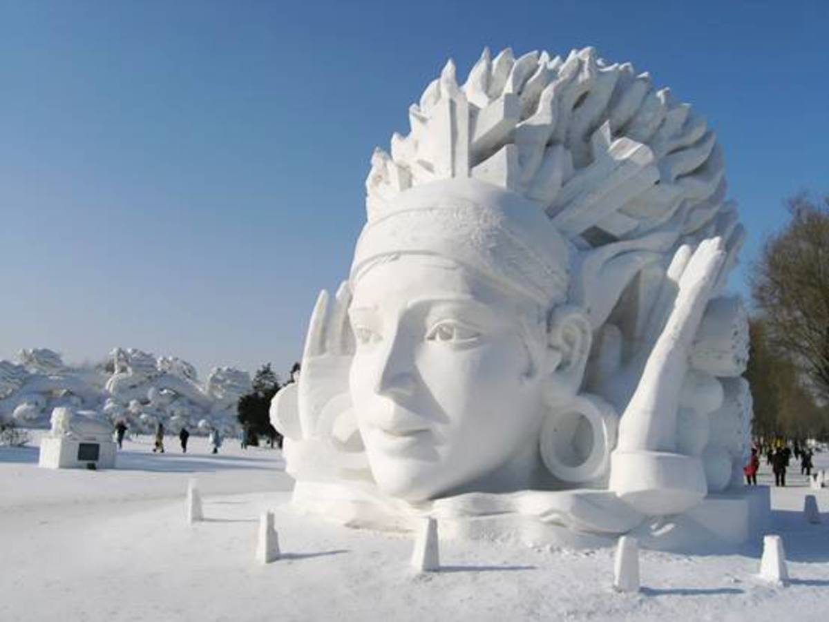 Snow Sculpture at Harbin Ice And Snow Festival.