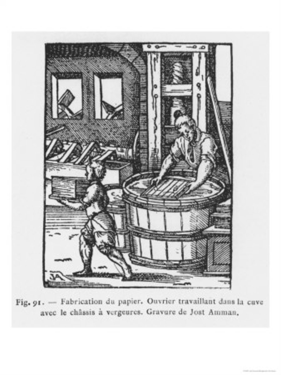 Papermaking was one of the most valuable skills of the Middle Ages.