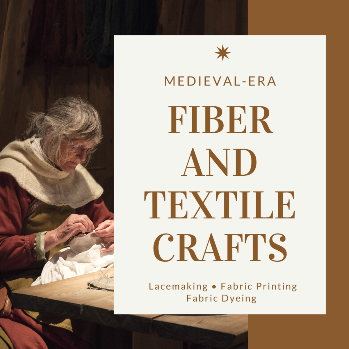 There were a variety of colorful and intricate ways of creating lace and fabric in the Middle Ages.