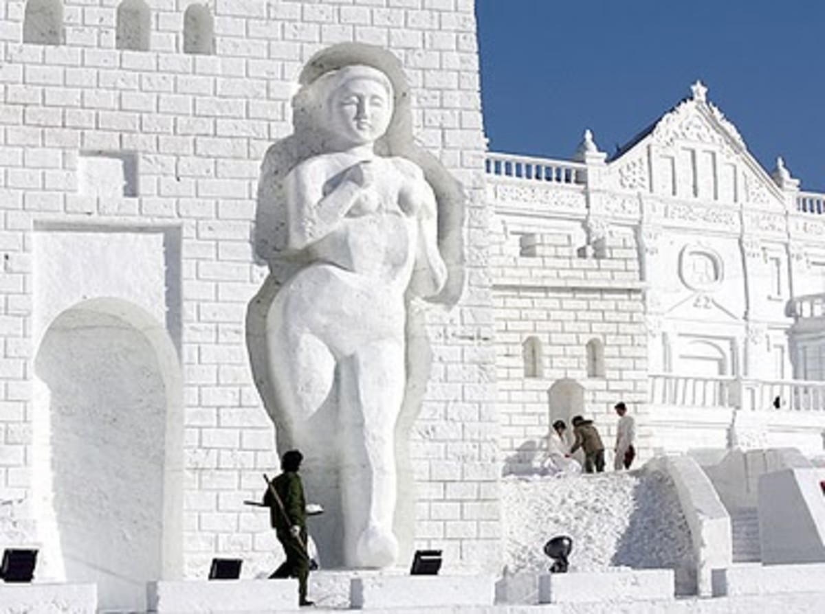 The Ice and Snow Festival in Shenyang, Northeast China.