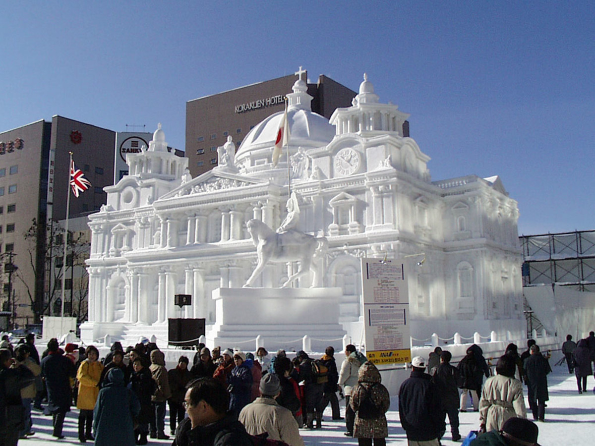 Snow sculpture in Sapporo Snow Festival.