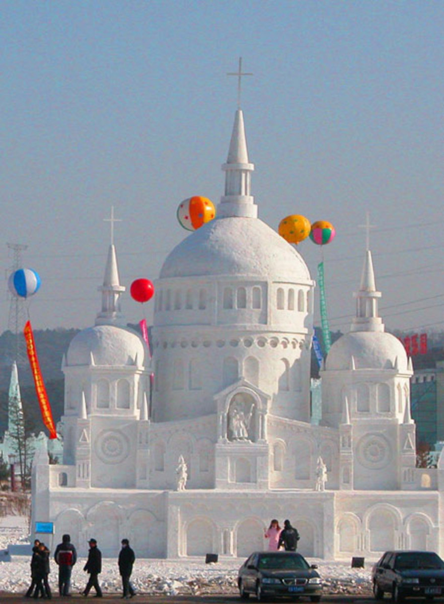 The Shenyang International Ice and Snow Festival in Shenyang, Northeast China's Liaoning Province (January, 2005).