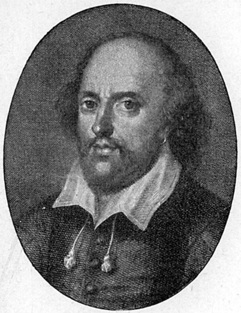 This is a nontraditional depiction of William Shakespeare, but may have been more accurate.