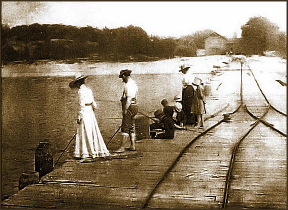 1896 A long forgotten pier in Southwestern Michigan at Pier Cove