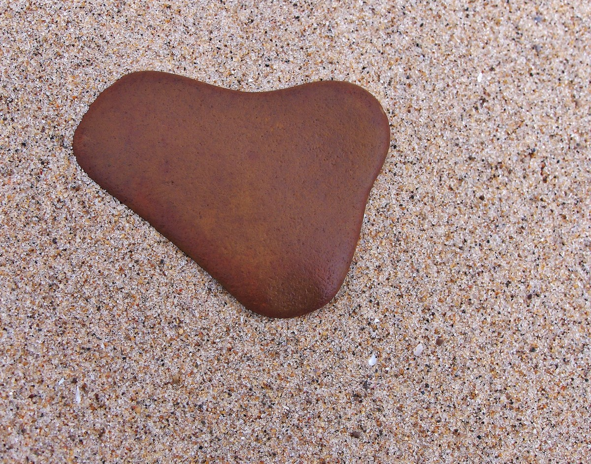There are literally thousands of brown stones on the beaches of Southwest Michigan, but this one is a special treasure!