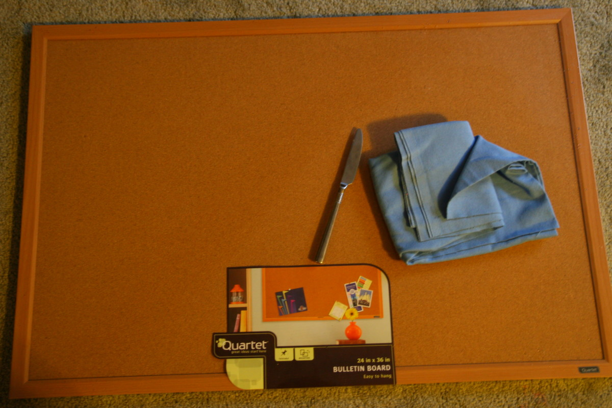 Flannel, a framed bulletin board, and a butter knife are the only materials required to create a flannel story board.