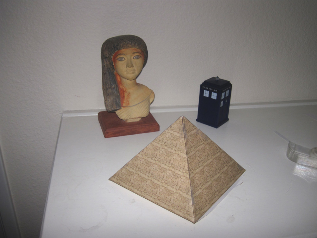 how to make an egyptian pyramid feltmagnet