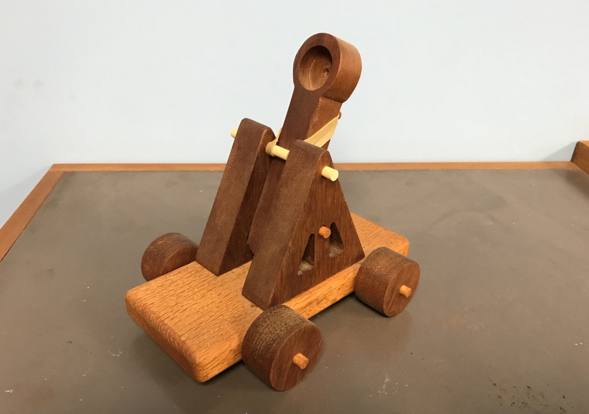 The Rubber Band Catapult is ready for action