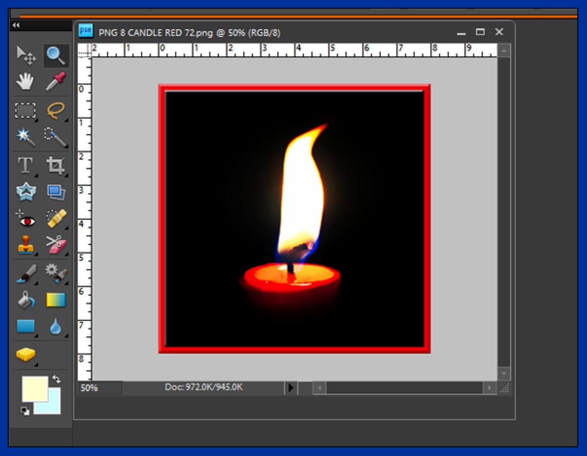Screenshot 2. Photo opened in Photoshop