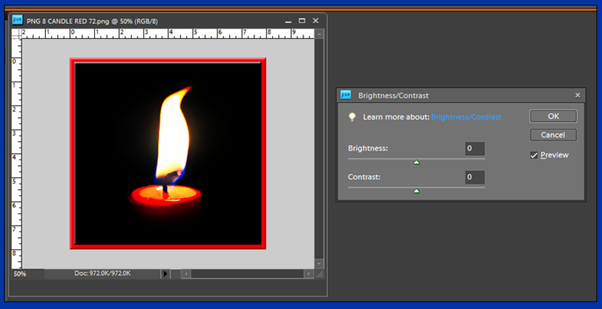 Screenshot 3. Brightening Your Photo in Photoshop