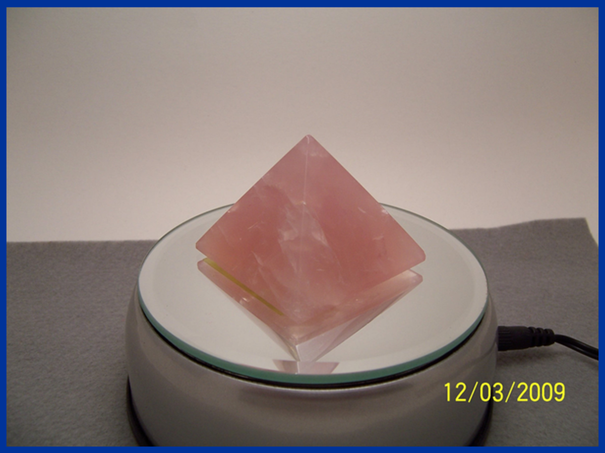 Product Photo 1. Original product photo of rose quartz pyramid...