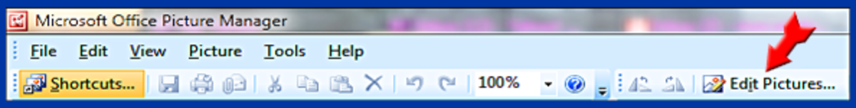 Screenshot 5. Microsoft Picture Manager Edit Menu