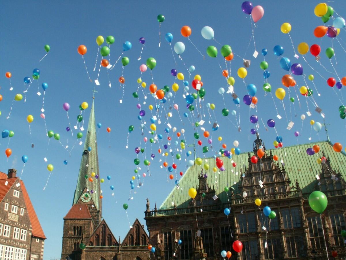 A mass balloon release