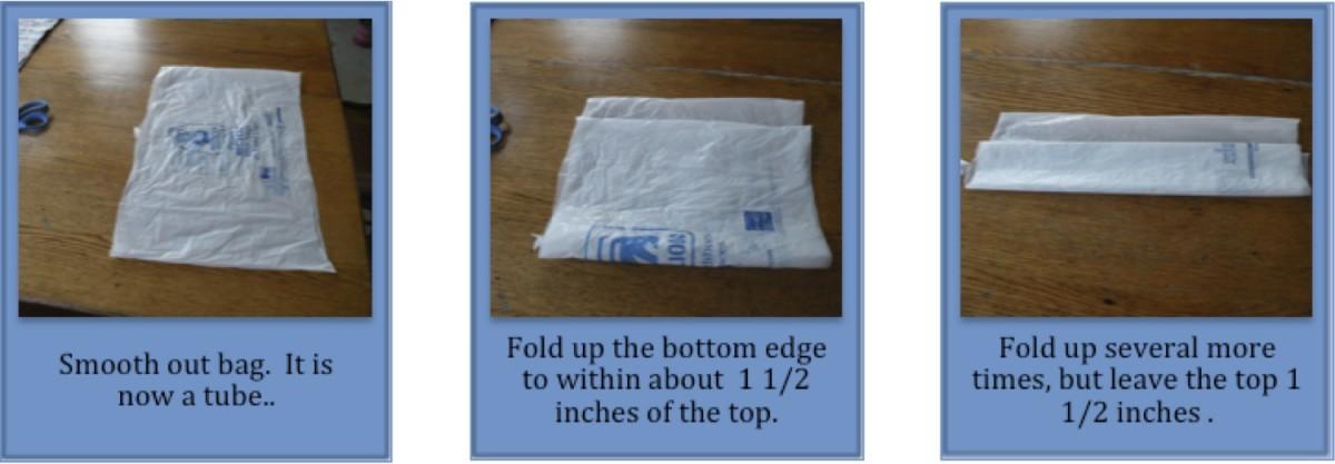 Next, fold the bag.