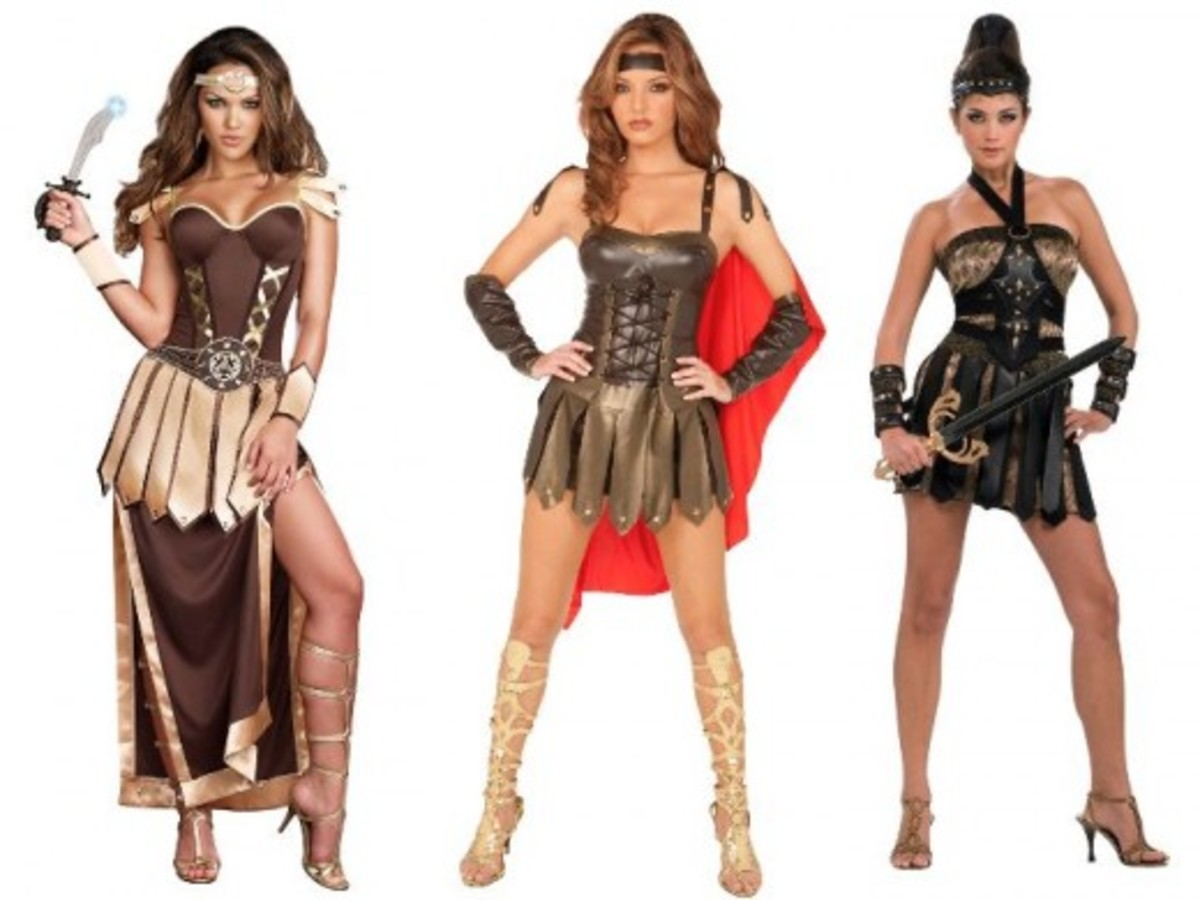 Women Halloween Roman Gladiator Costumes