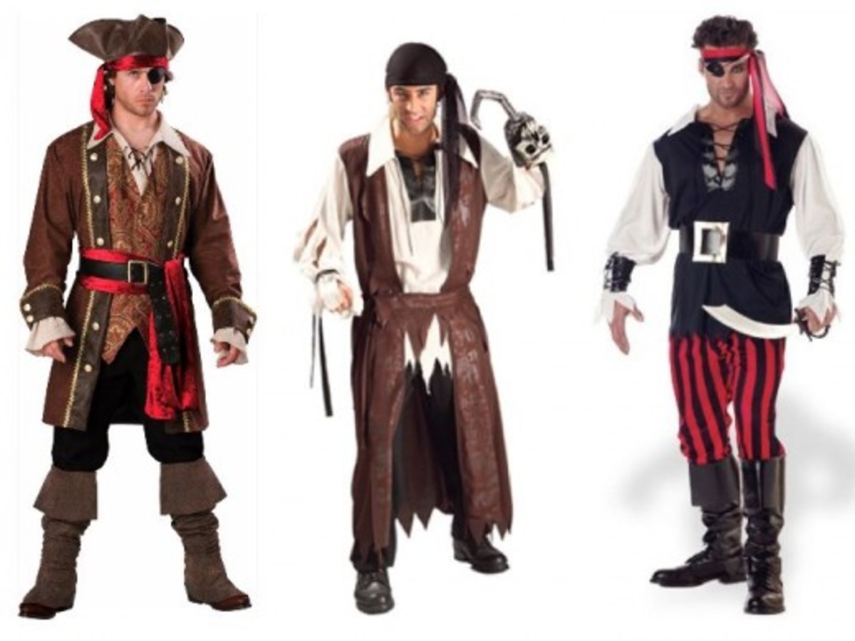 Men Halloween Pirate Costumes