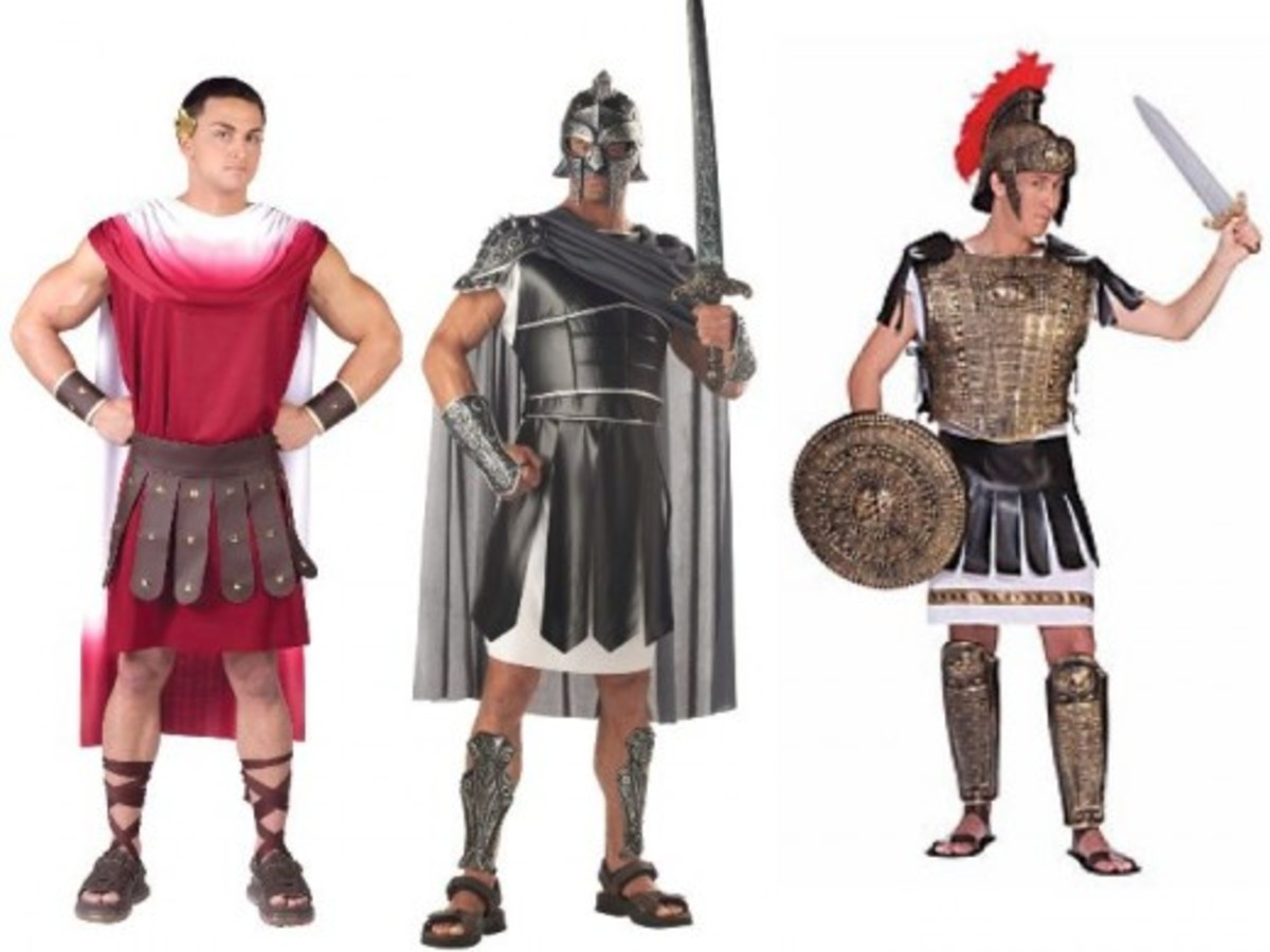 Men Halloween Roman Gladiator Costumes