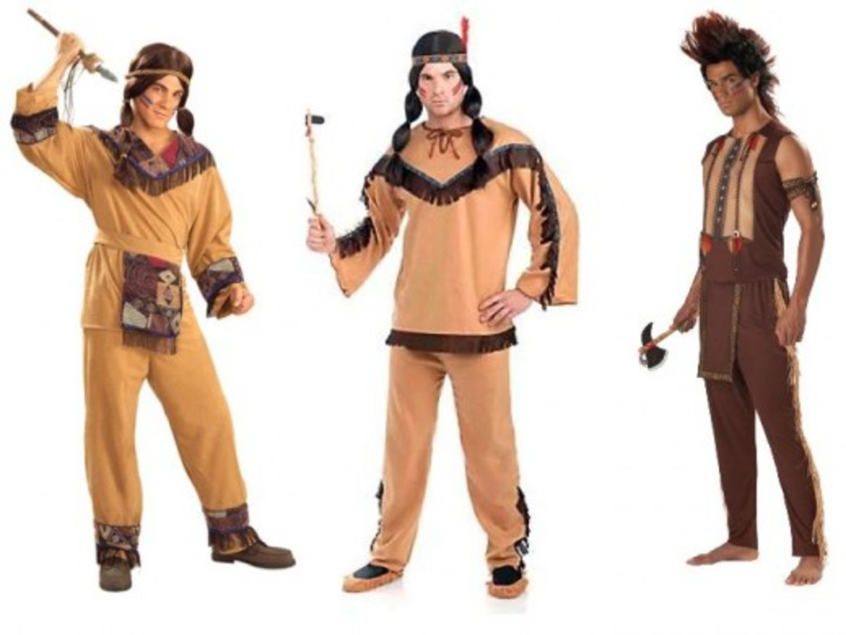 Men Halloween Indian Costumes