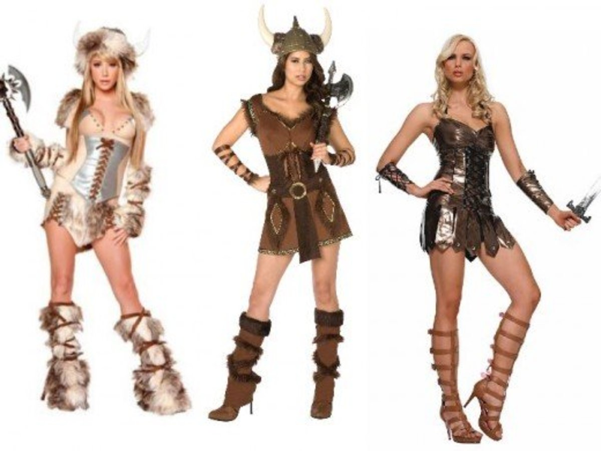 Women Halloween Viking Costumes