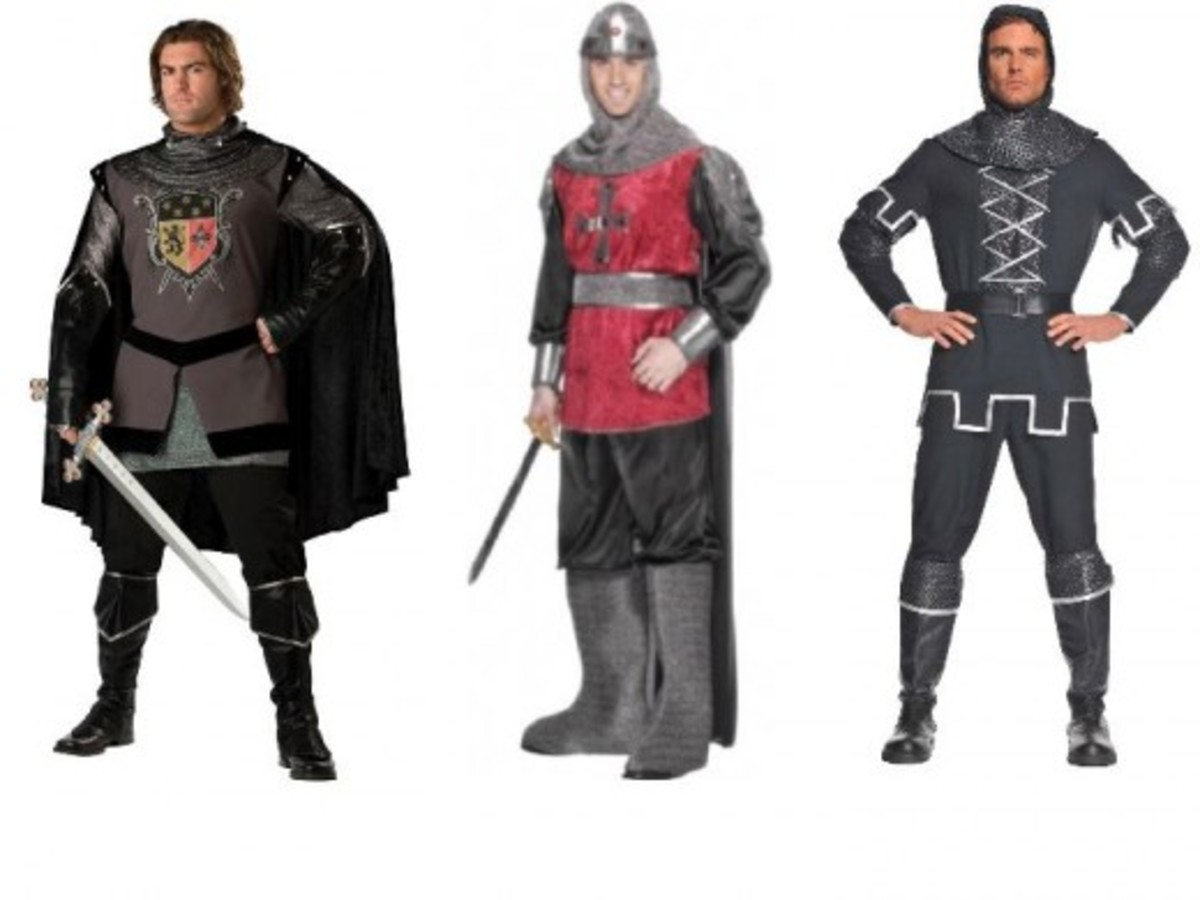 Men Halloween Knight Costumes