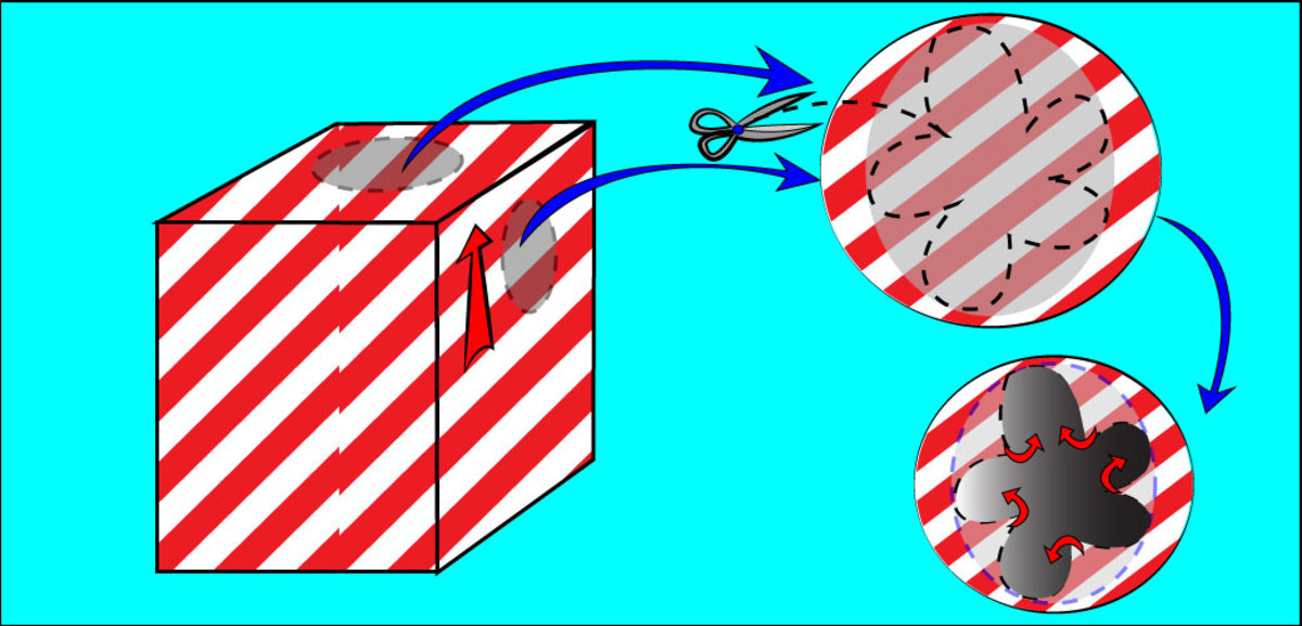 Fold the wrapping paper over the edges of the holes and tape them down.