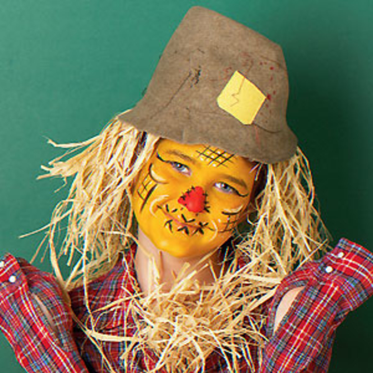 Scarecrow Makeup With Red