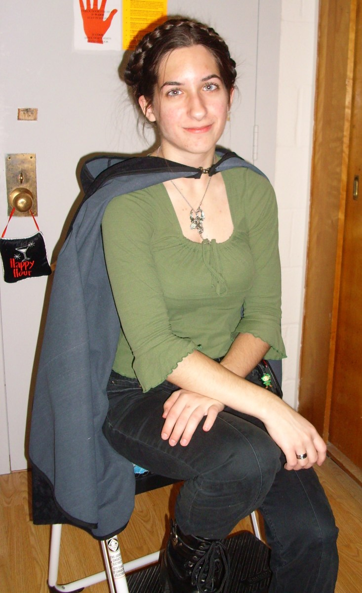 You never know what combination of clothing and accessories can make for an impressive homemade costume!