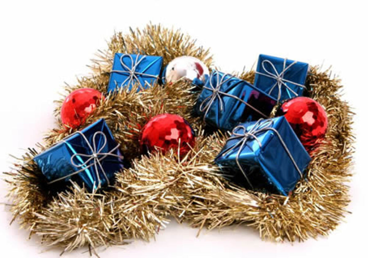Tinsel can even be strewn through presents under the tree.