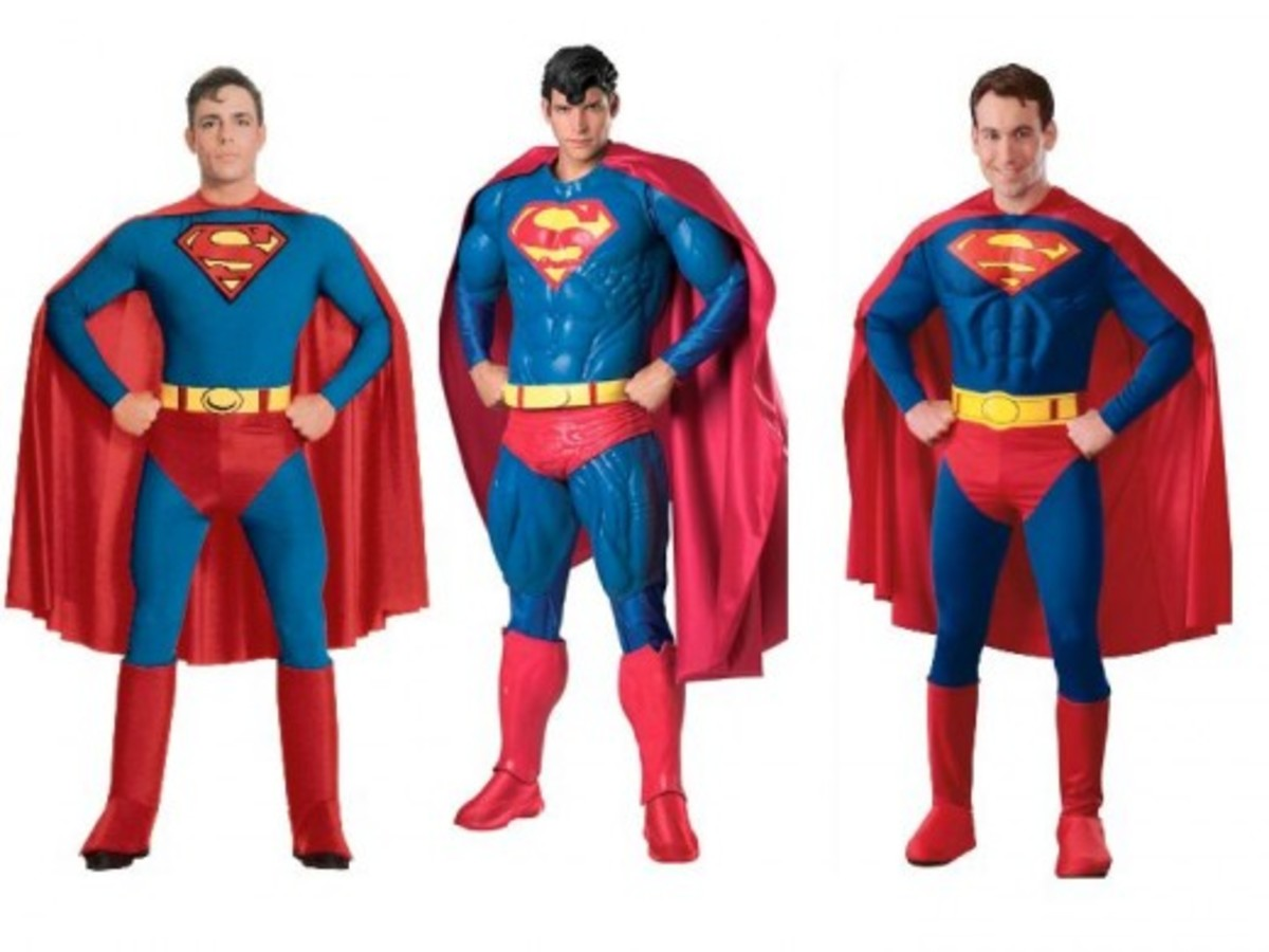 Adult Men Superman Halloween Costumes