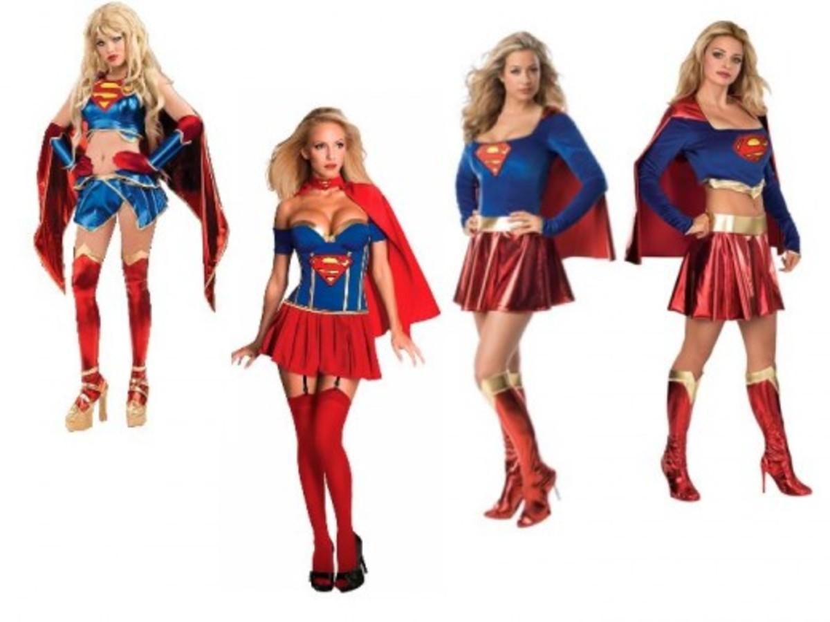 Adult Women Supergirl Halloween Costumes