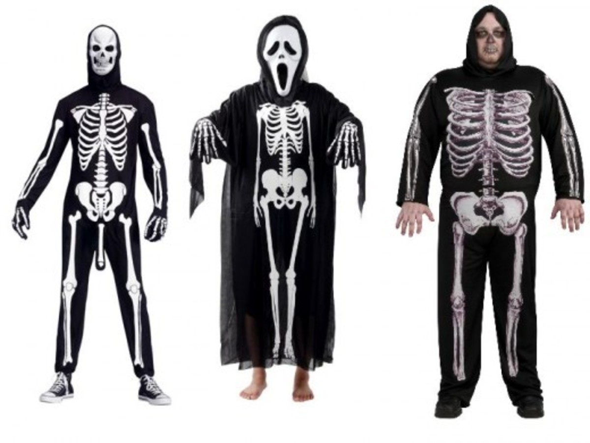 Men Skeleton Costume