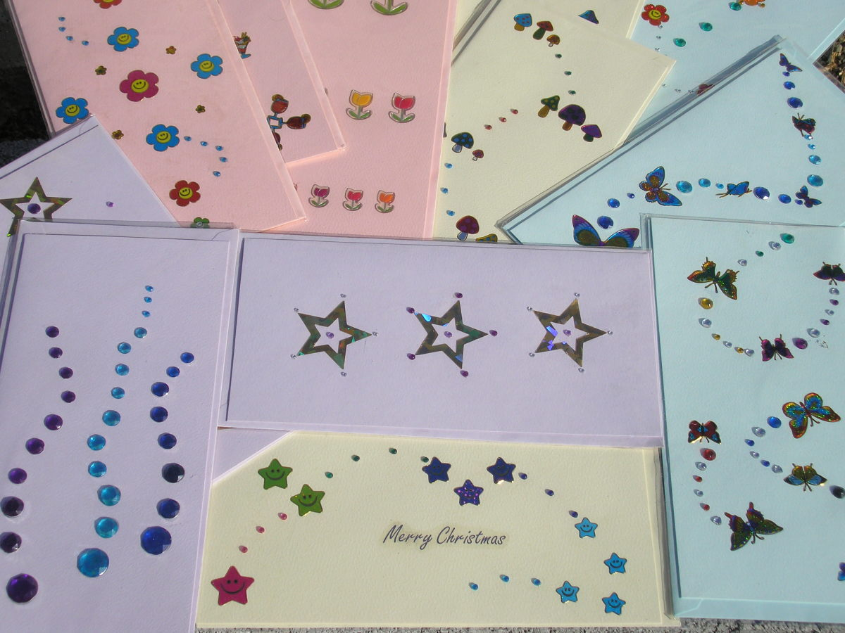 make different cards and put together in a set as a gift for the card lover, they will love them.