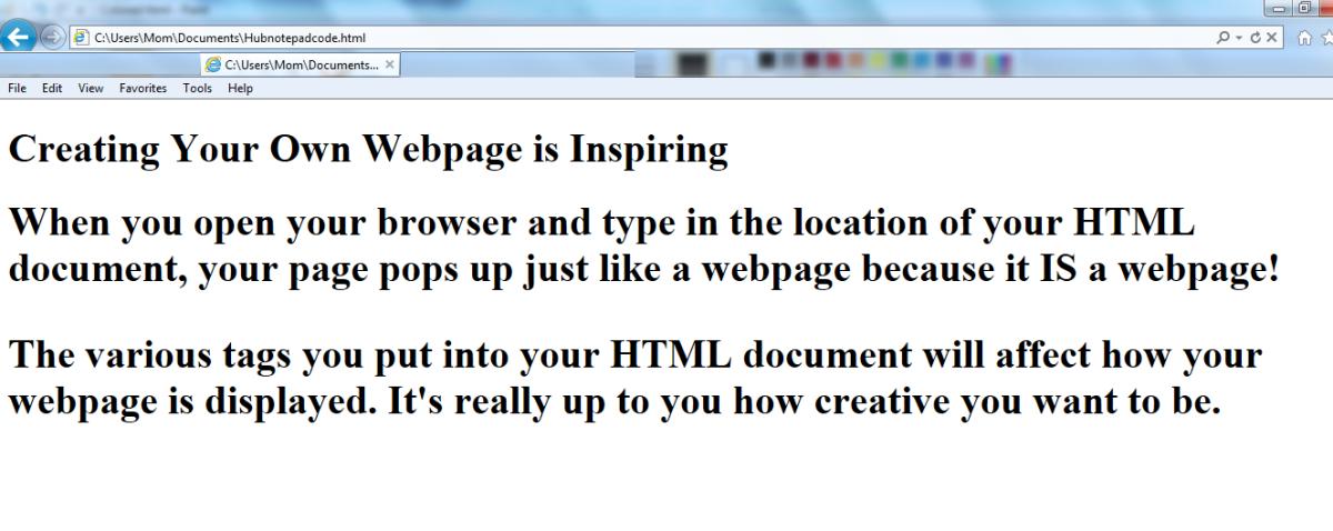 Plain HTML