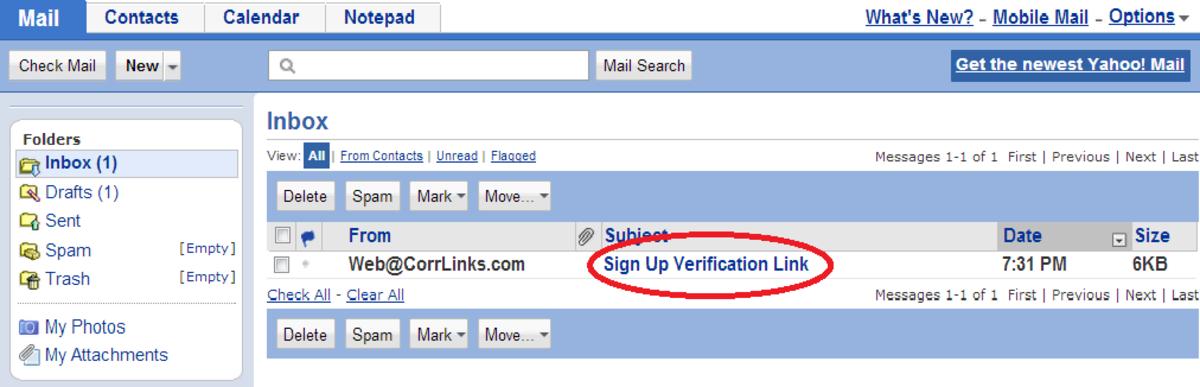 Corrlinks com register