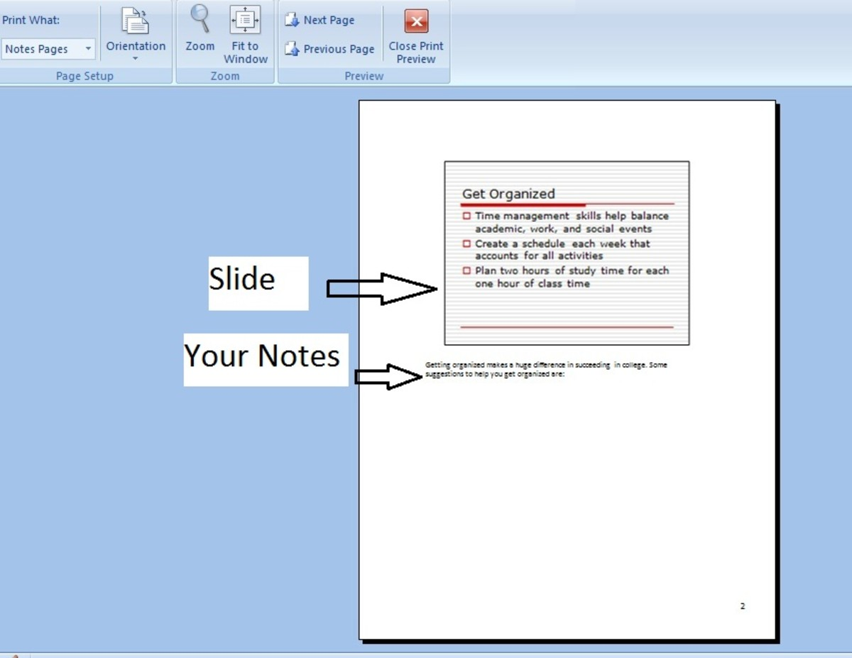 Notes on powerpoint presentation 2007