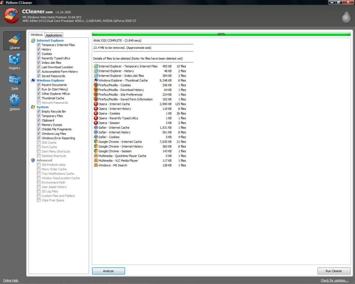 CCleaner is a free-to-download program that will delete your history for you, among other data.
