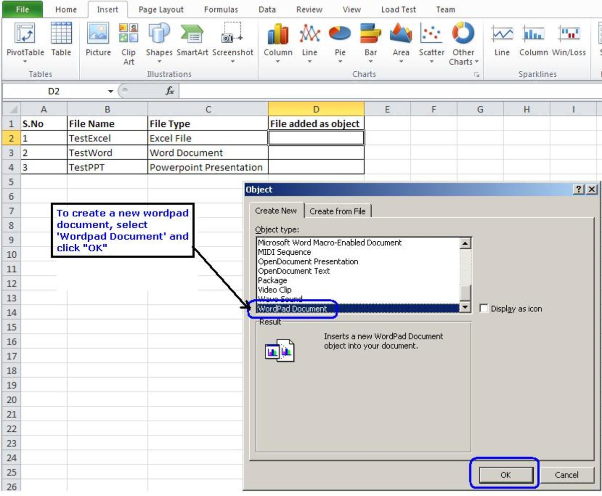 How to Embed a File as an Object in a Microsoft Excel Worksheet ...