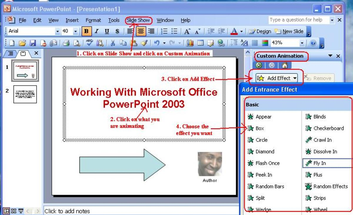 Working with microsoft office powerpoint 2003 turbofuture the process of animating your objects toneelgroepblik Gallery