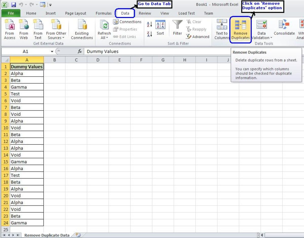 Primary Maths Worksheets Printable How To Remove Duplicates From An Excel Sheet  Turbofuture Basic Reading Comprehension Worksheets with Exclamatory Sentence Worksheet Excel  Sheet  Go To The Data Tab In The Menu Header And Click On Remove  Duplicates Adding Subtracting Integers Worksheet Word